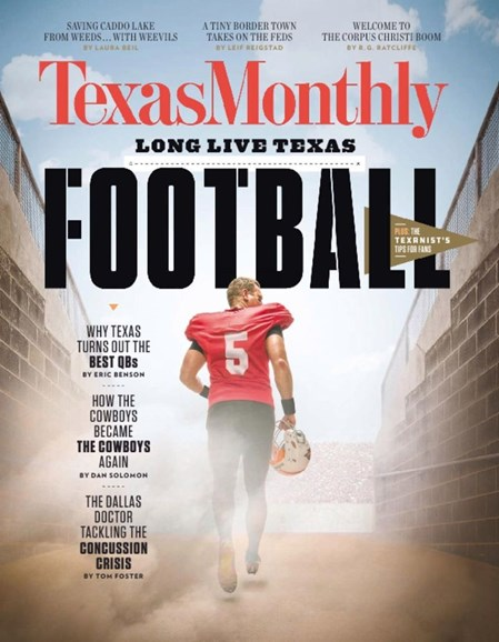 Texas Monthly Cover - 9/1/2017