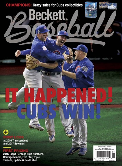 Beckett Baseball Cover - 1/1/2017