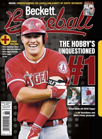 Beckett Baseball Cover - 4/1/2016