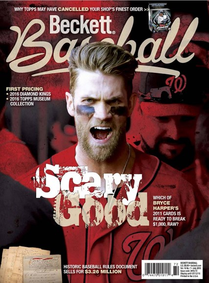 Beckett Baseball Cover - 7/1/2016