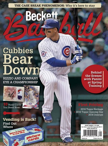 Beckett Baseball Cover - 6/1/2016