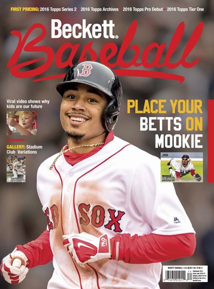 Beckett Baseball Cover - 9/1/2016