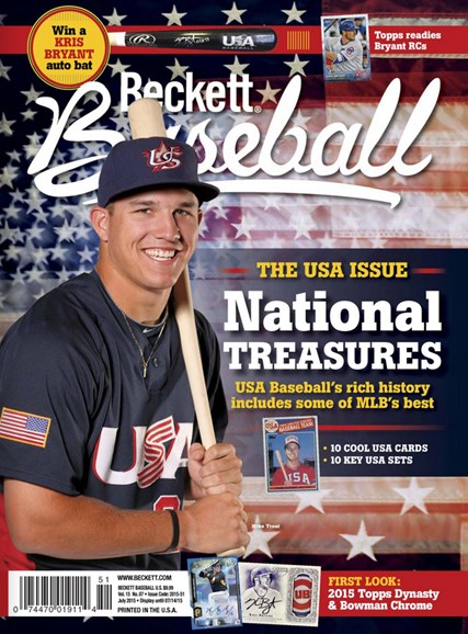Beckett Baseball Cover - 7/1/2015