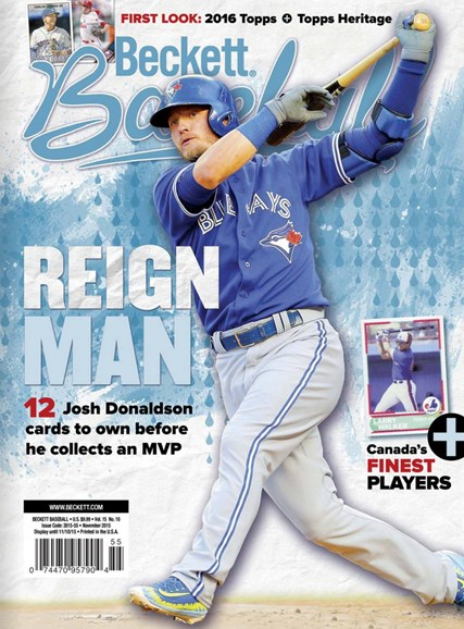 Beckett Baseball Cover - 11/1/2015