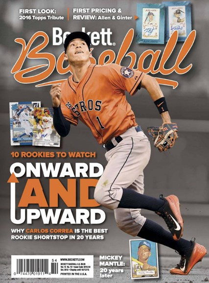 Beckett Baseball Cover - 10/1/2015