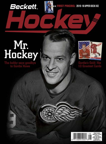 Beckett Hockey Cover - 8/1/2016