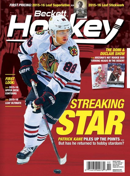 Beckett Hockey Cover - 2/1/2016