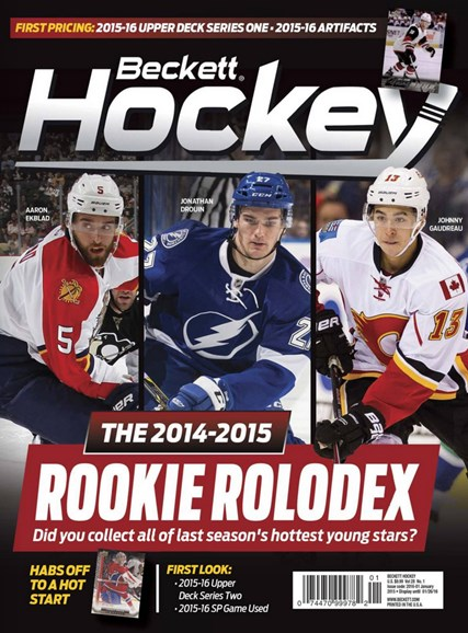 Beckett Hockey Cover - 1/1/2016