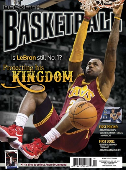 Beckett Basketball Cover - 1/1/2016