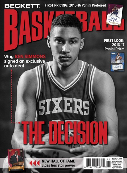 Beckett Basketball Cover - 11/1/2016