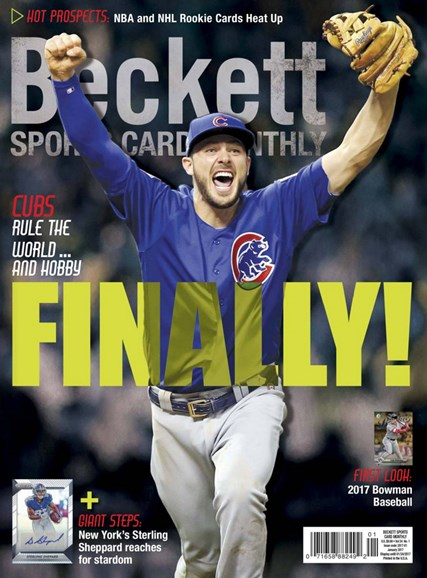 Beckett Sports Card Monthly Cover - 1/1/2017
