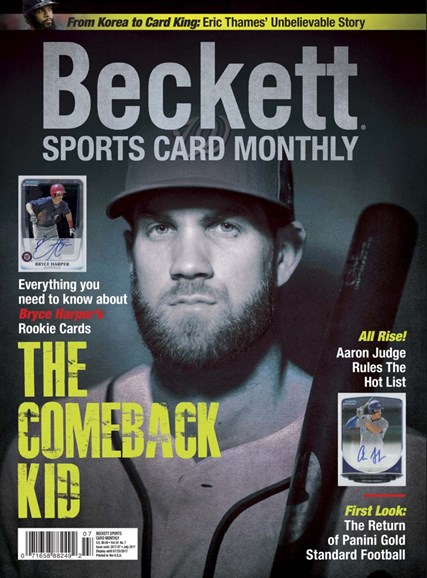 Beckett Sports Card Monthly Cover - 7/1/2017