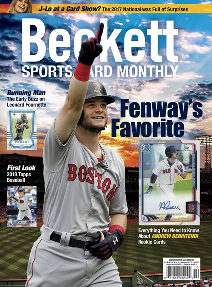 Beckett Sports Card Monthly Cover - 10/1/2017