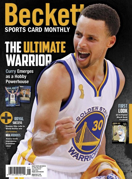 Beckett Sports Card Monthly Cover - 1/1/2016