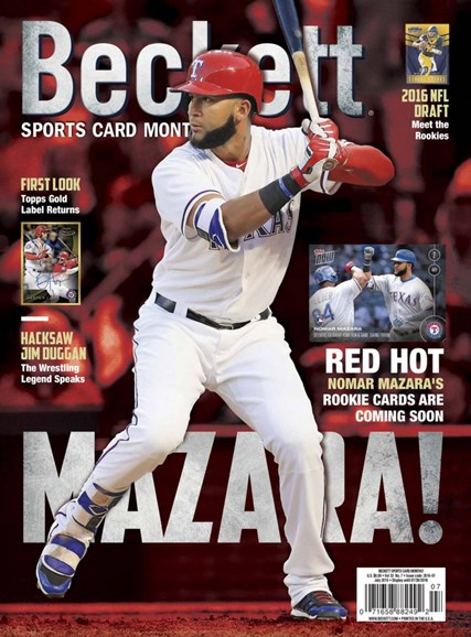 Beckett Sports Card Monthly Cover - 7/1/2016