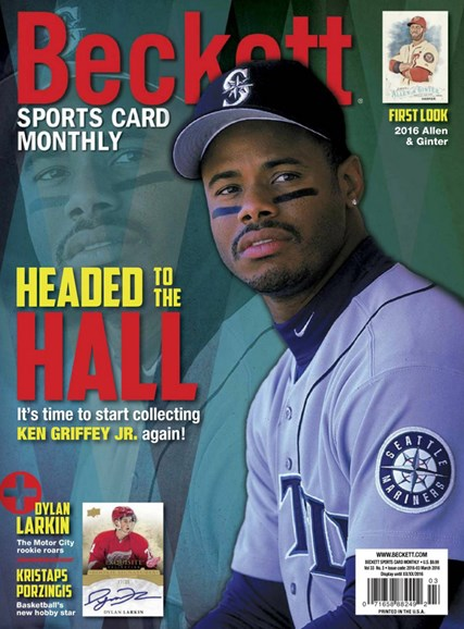Beckett Sports Card Monthly Cover - 3/1/2016