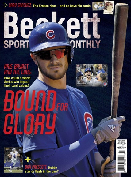 Beckett Sports Card Monthly Cover - 11/1/2016