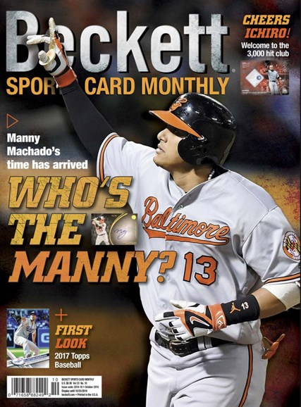 Beckett Sports Card Monthly Cover - 10/1/2016
