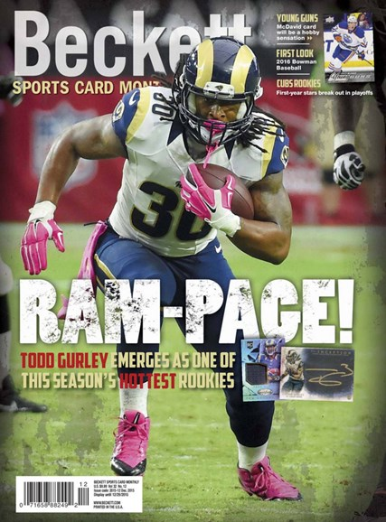 Beckett Sports Card Monthly Cover - 12/1/2015