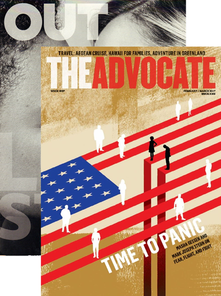 Out & The Advocate Edition Cover - 2/1/2017
