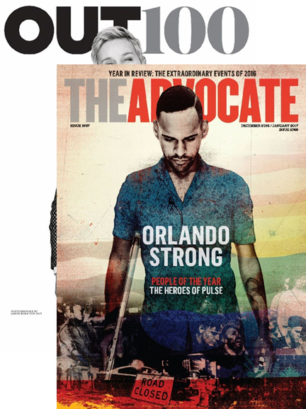 Out & The Advocate Edition Cover - 12/1/2016