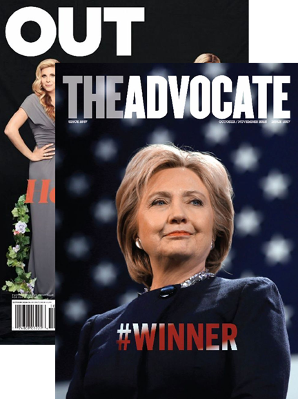 Out & The Advocate Edition Cover - 10/1/2016