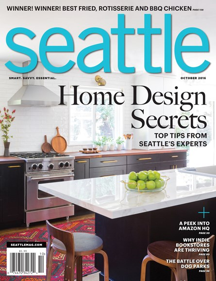Seattle Magazine Cover - 10/1/2016