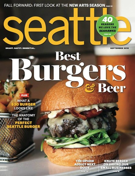Seattle Magazine Cover - 9/1/2016