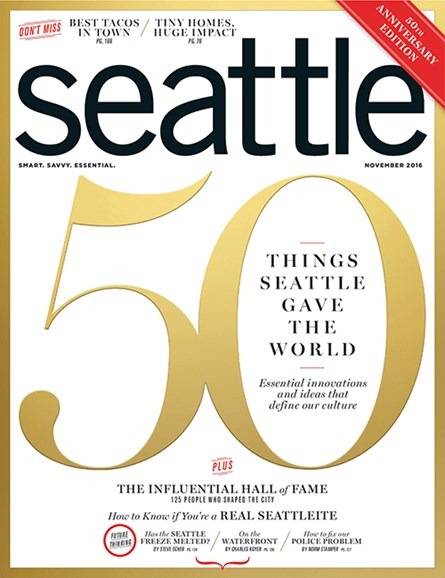 Seattle Magazine Cover - 11/1/2016