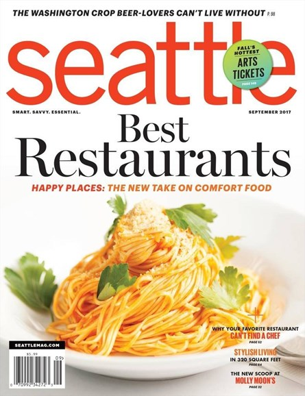 Seattle Magazine Cover - 9/1/2017
