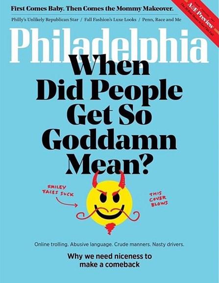 Philadelphia Magazine Cover - 9/1/2017
