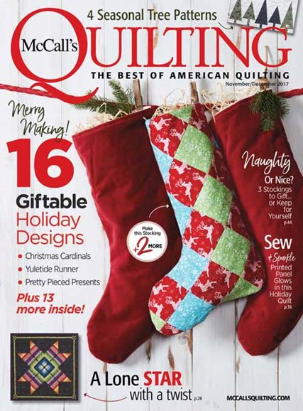 McCall's Quilting Cover - 11/1/2017
