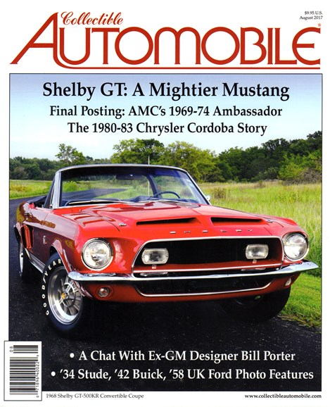 Collectible Automobile Cover - 8/1/2017