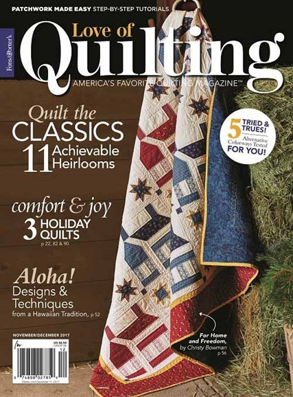Fons & Porter's Love of Quilting Cover - 11/1/2017