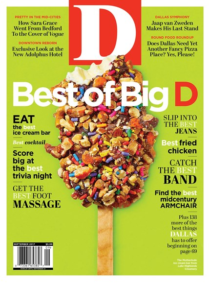 D Magazine Cover - 9/1/2017