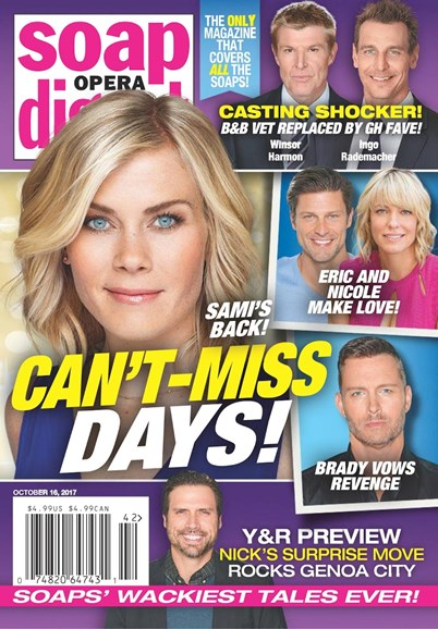 Soap Opera Digest Cover - 10/16/2017