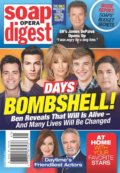 Soap Opera Digest Cover - 10/9/2017
