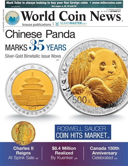 World Coin News Cover - 9/1/2017