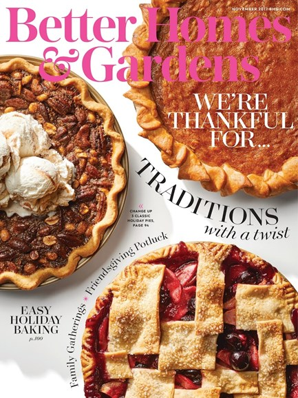 Better Homes & Gardens Cover - 11/1/2017