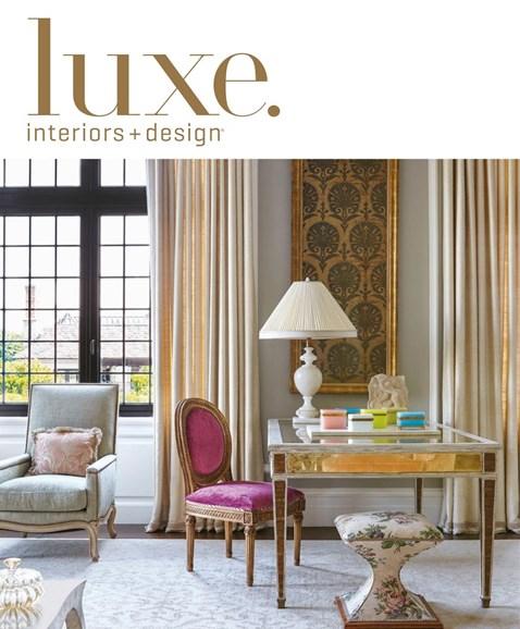 Luxe Interiors & Design Cover - 9/1/2017