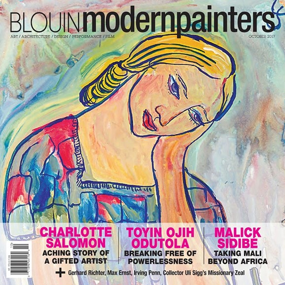 Blouin Modern Painters Cover - 10/1/2017