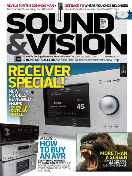 Sound & Vision Cover - 11/1/2017
