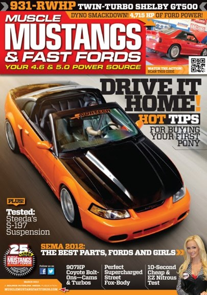 Muscle Mustangs & Fast Fords Cover - 3/1/2013