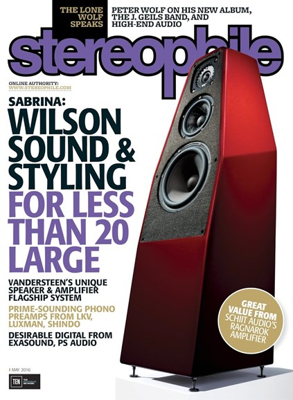 Stereophile Cover - 5/1/2016