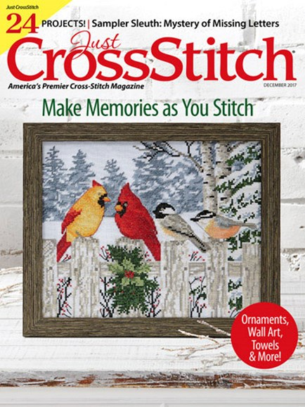 Just CrossStitch Cover - 12/1/2017