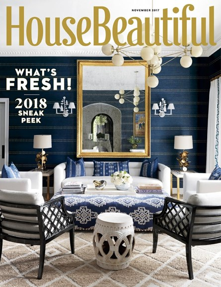 House Beautiful Cover - 11/1/2017