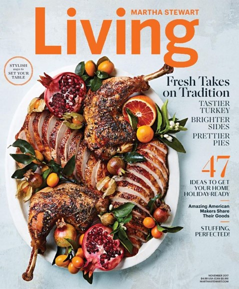 Martha Stewart Living Cover - 11/1/2017