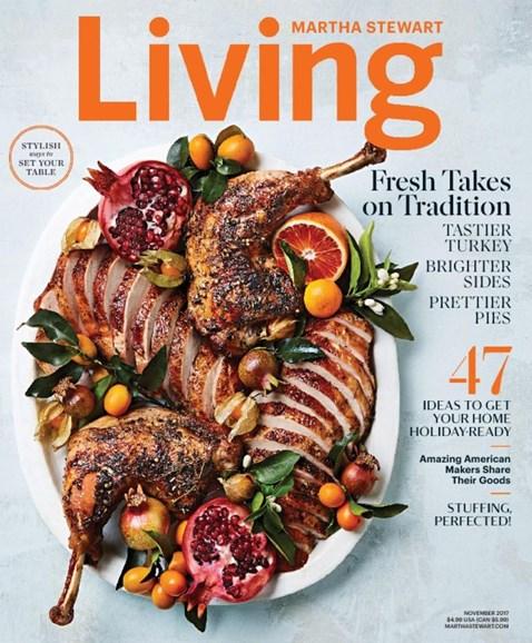 Martha Stewart Living Cover - 11/1/2017
