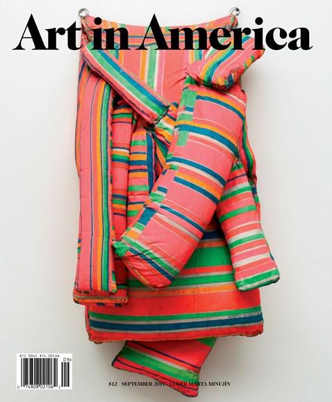 Art In America Cover - 9/1/2017
