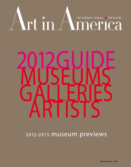 Art In America Cover - 8/1/2012
